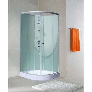 Cabine de douche arrondie -...