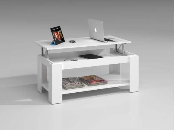 Ambit Table Basse Relevable Blanc