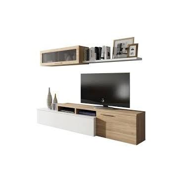 Nexus meuble TV chène blanc