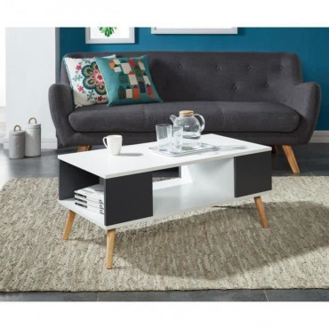 BABETTE Table basse blanche...