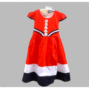Robe rouge - Filles 6-8 ans