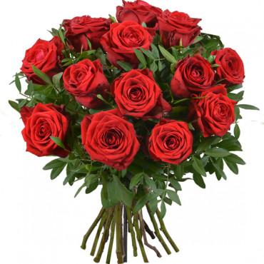 Bouquet de 15 Roses Rouges